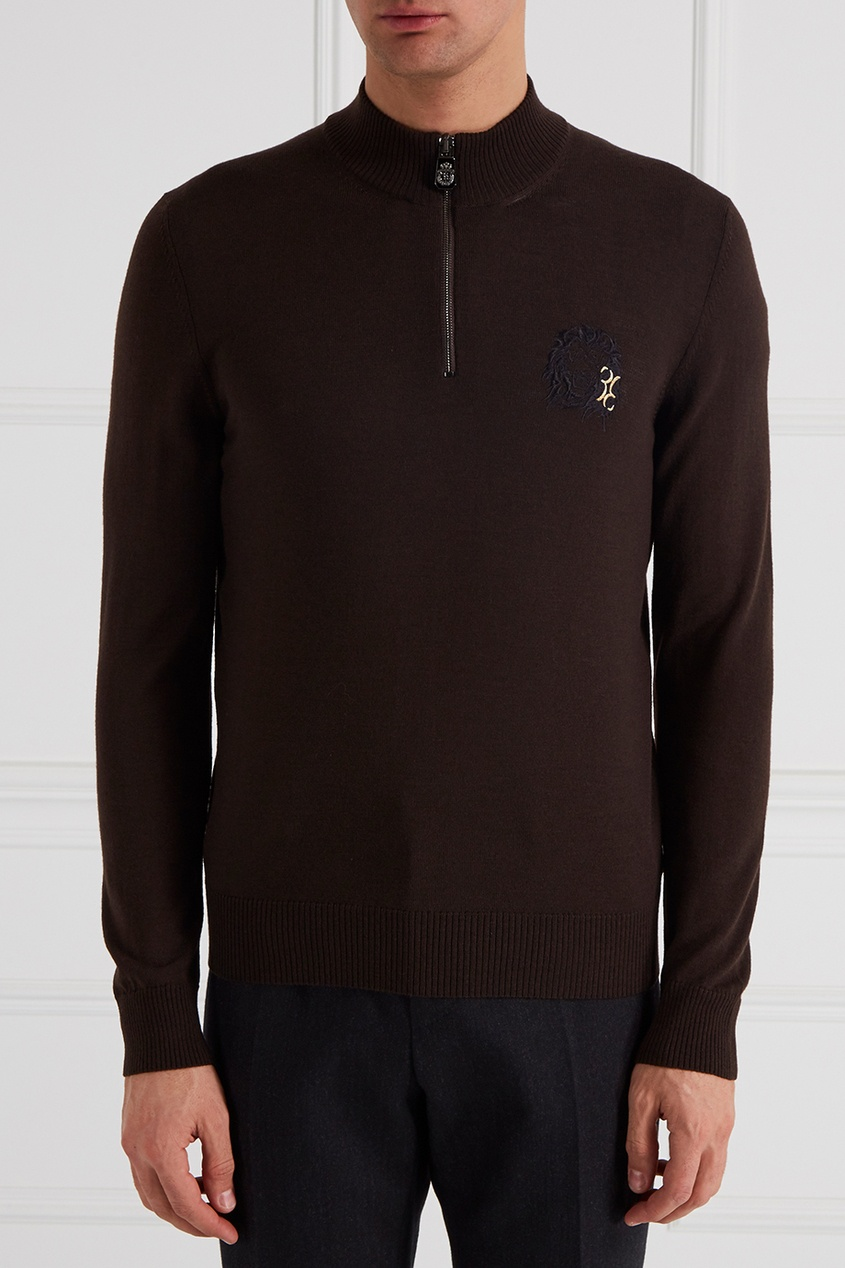 billionaire g15092935661 Billionaire Коричневый свитер из мериносовой шерсти