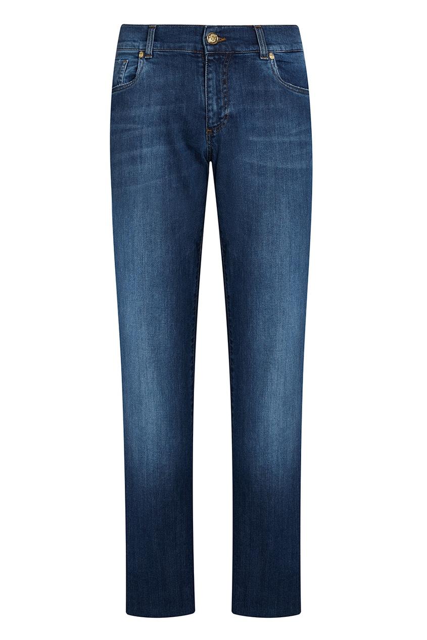 Billionaire Синие джинсы с потертым эффектом billionaire серые кроссовки с бархатными вставками