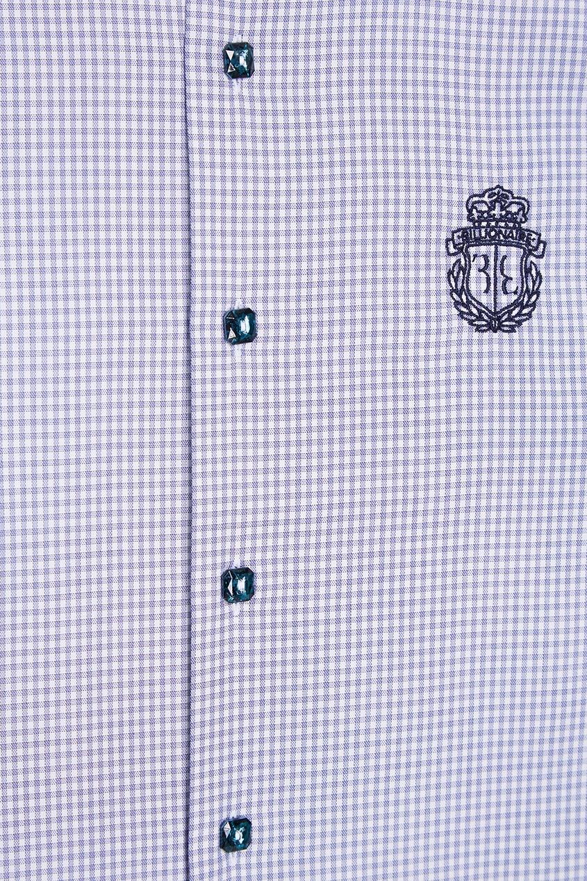Billionaire Хлопковая рубашка в клетку рубашка в клетку из денима gamix3