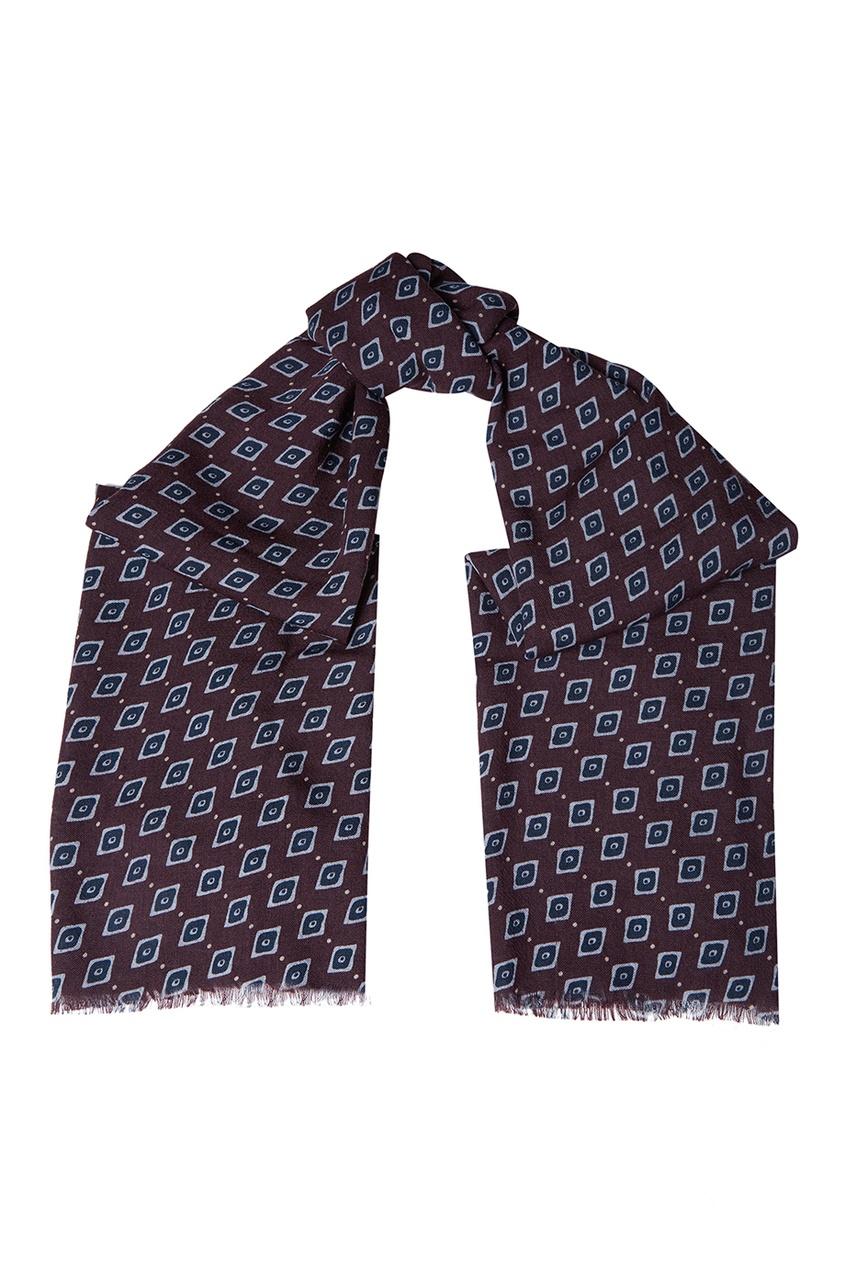 Billionaire Шерстяной шарф с узором billionaire мокасины