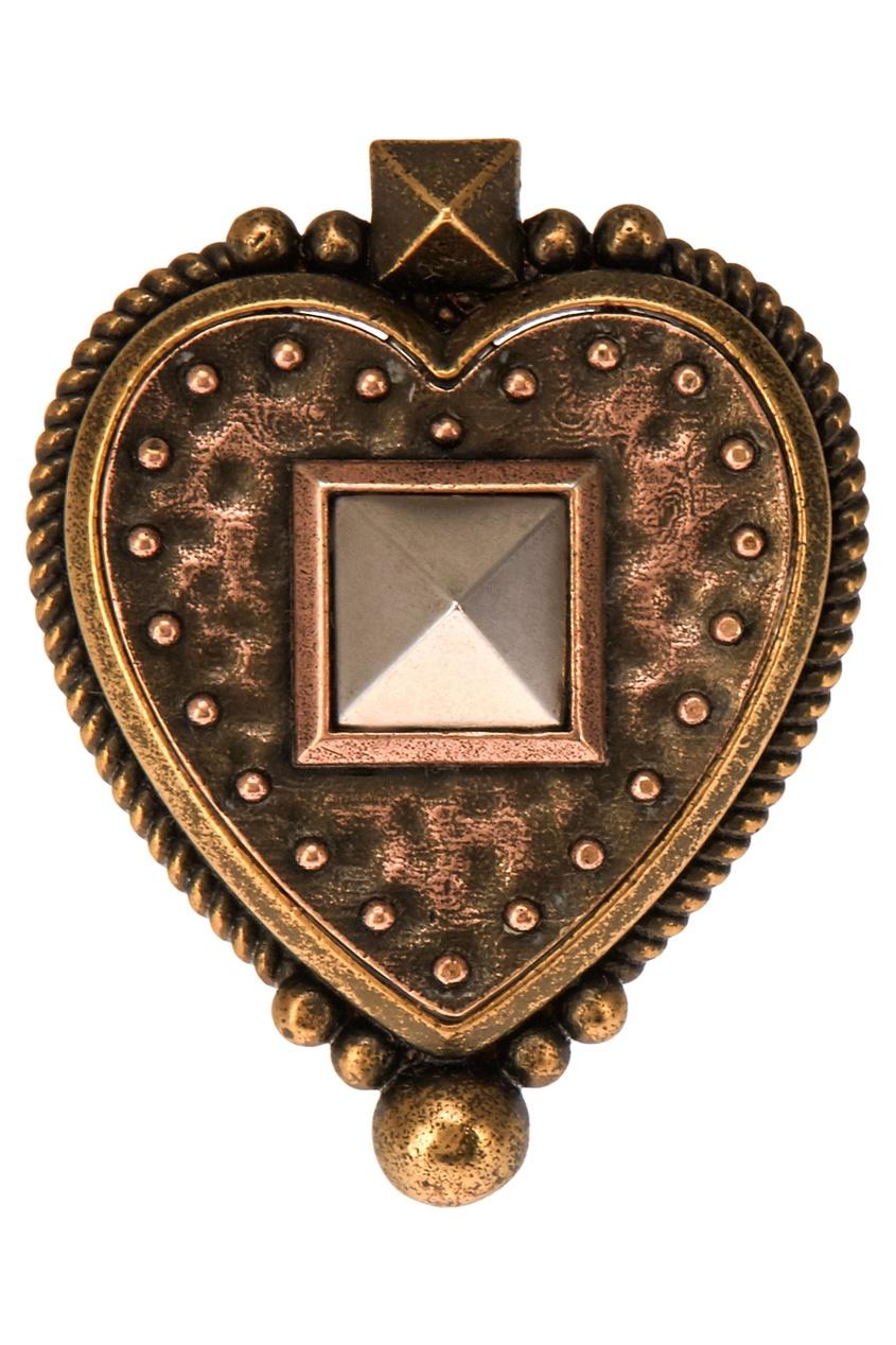 Кольцо-сердце из латуни