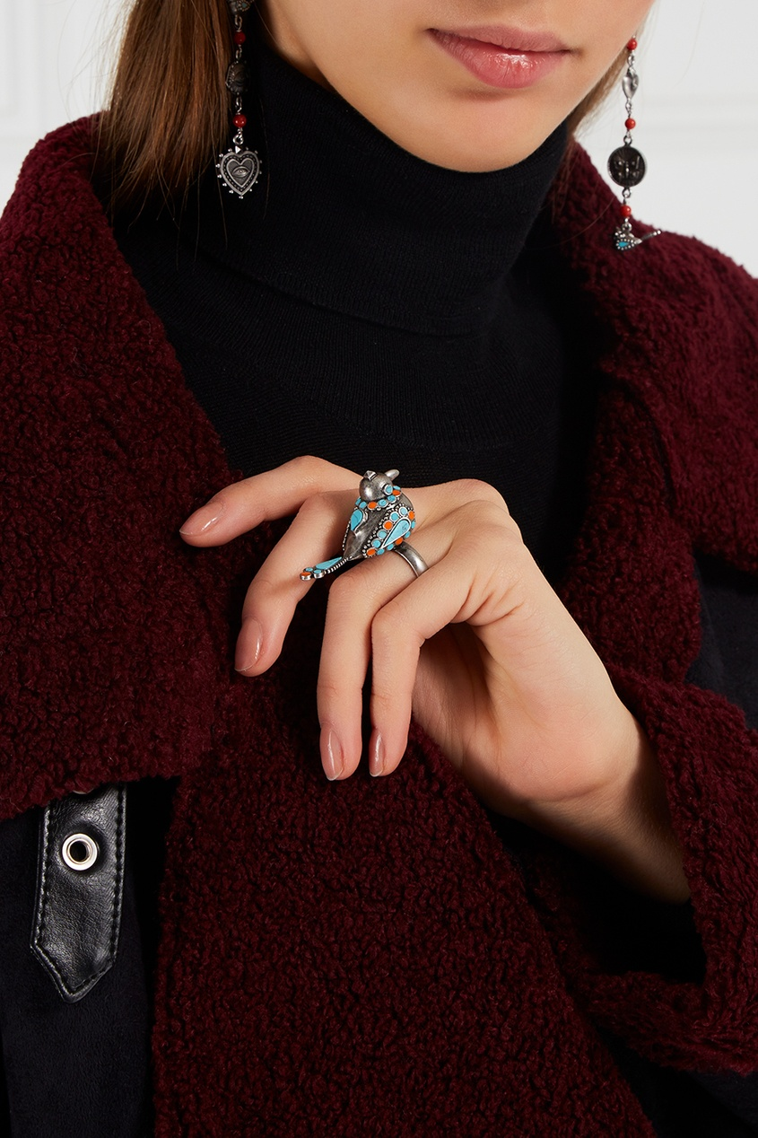 Valentino Кольцо-птичка из латуни