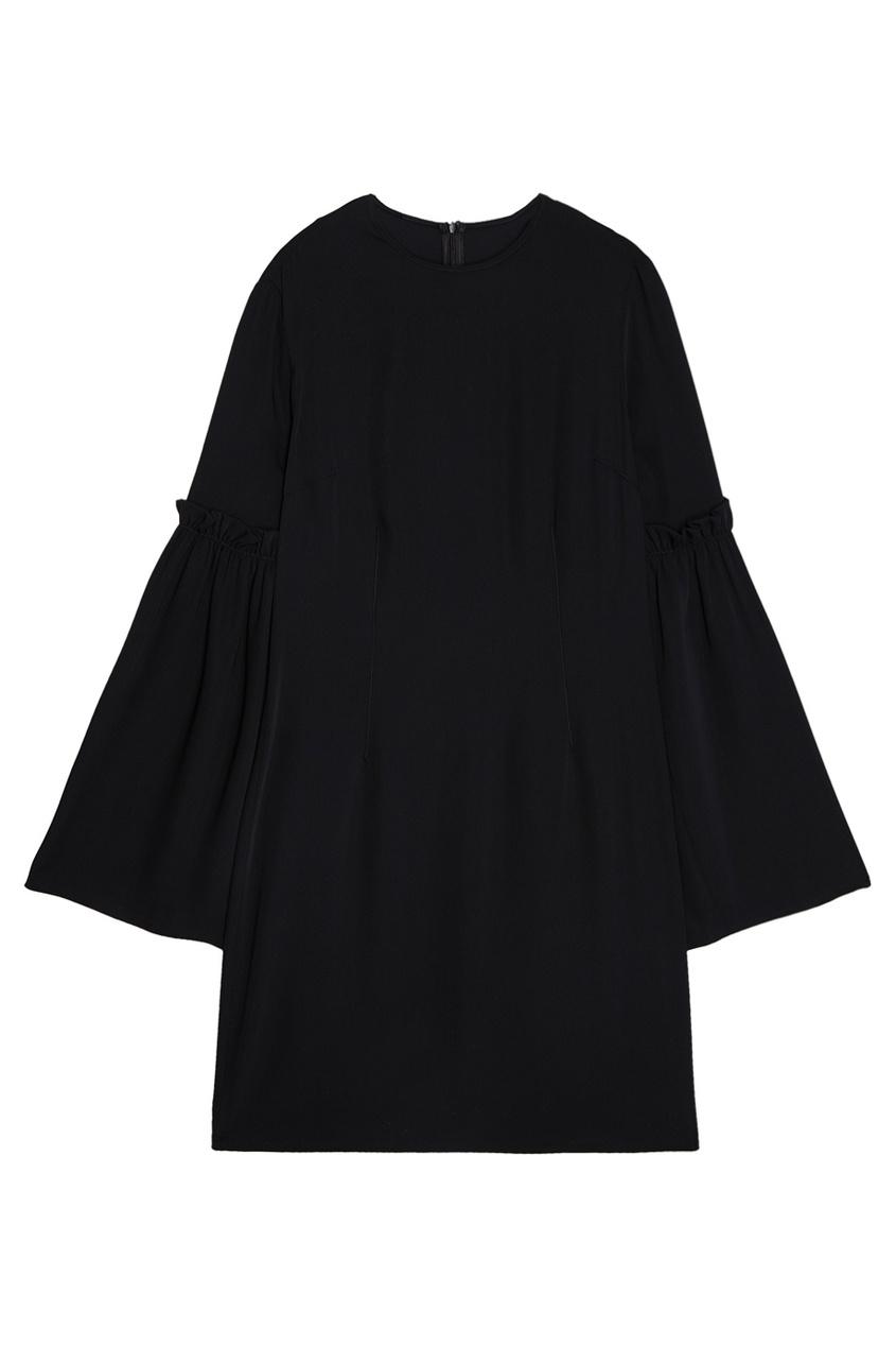 Платье с драпированными рукавами