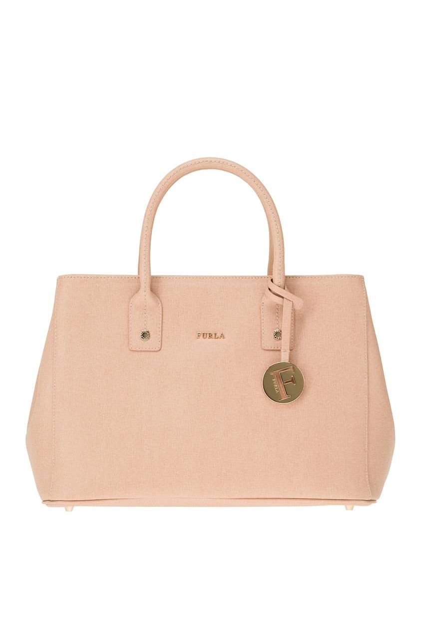 FURLA Розовая сумка из замши Linda