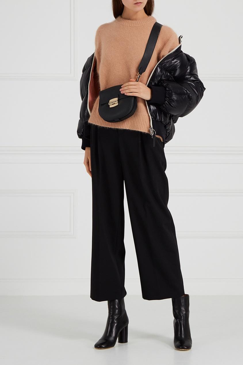 FURLA Черная сумка Club сумка черная замшевая фото
