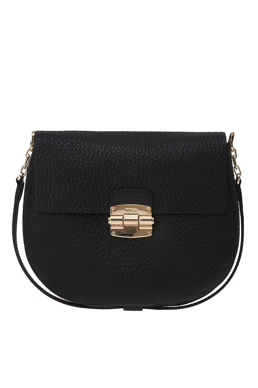 Купить со скидкой Черная кожаная сумка Club