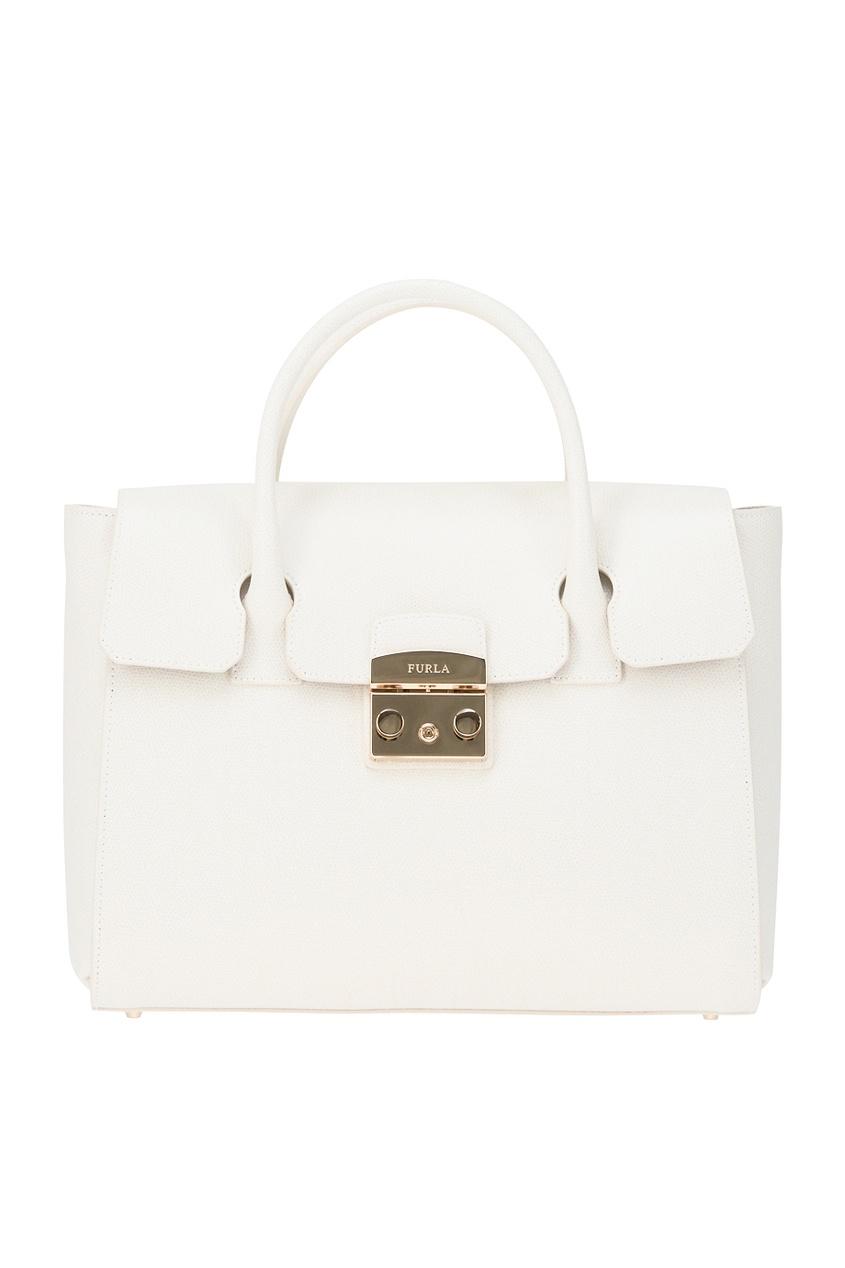 Белая сумка Metropolis