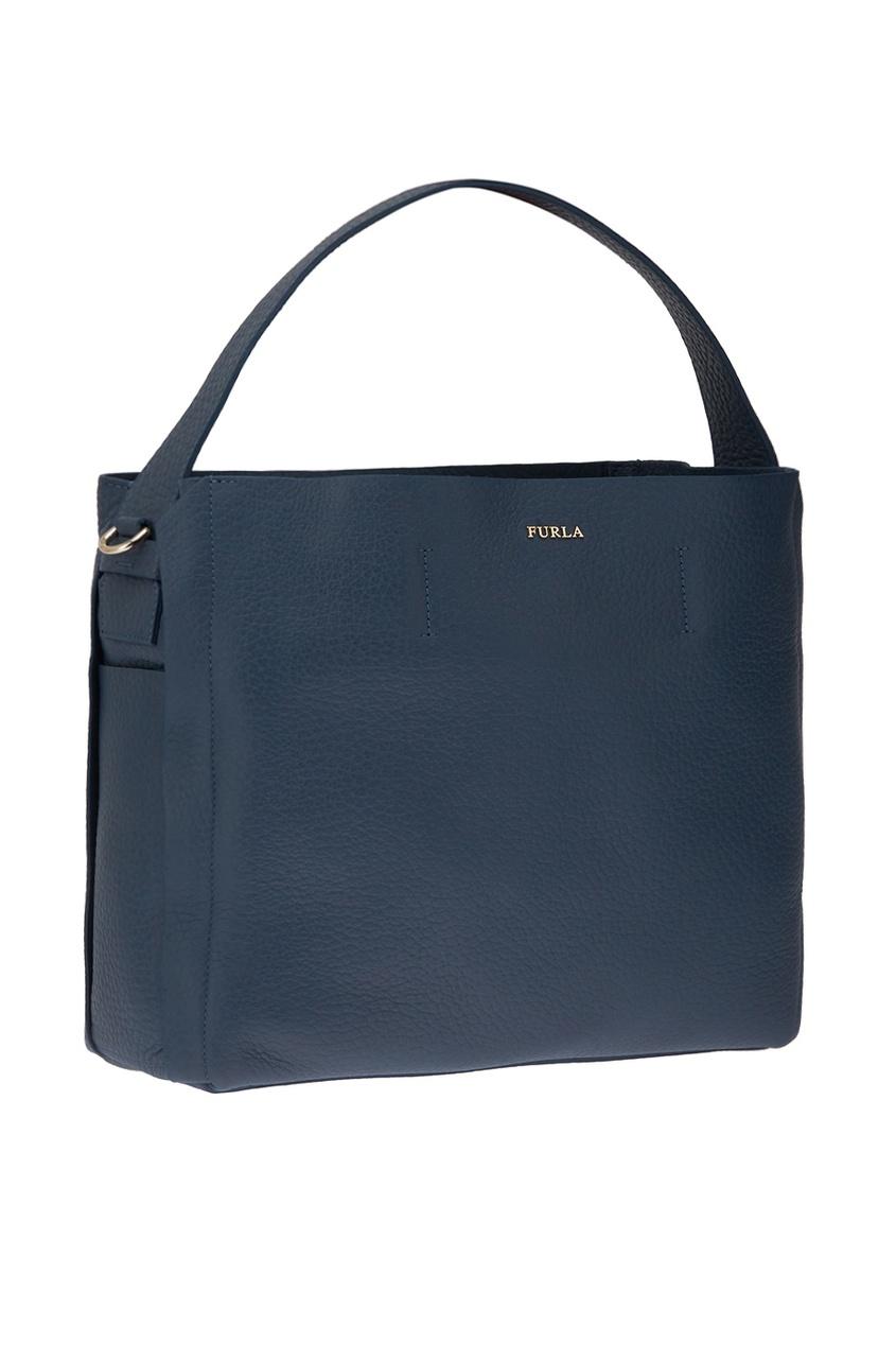 FURLA Синяя сумка-шопер Capriccio где сумку furla в москве