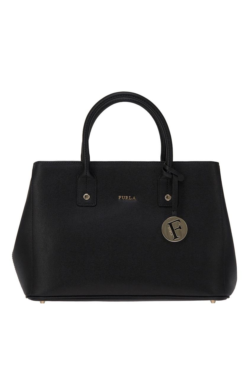 FURLA Черная сумка Linda где сумку furla в москве