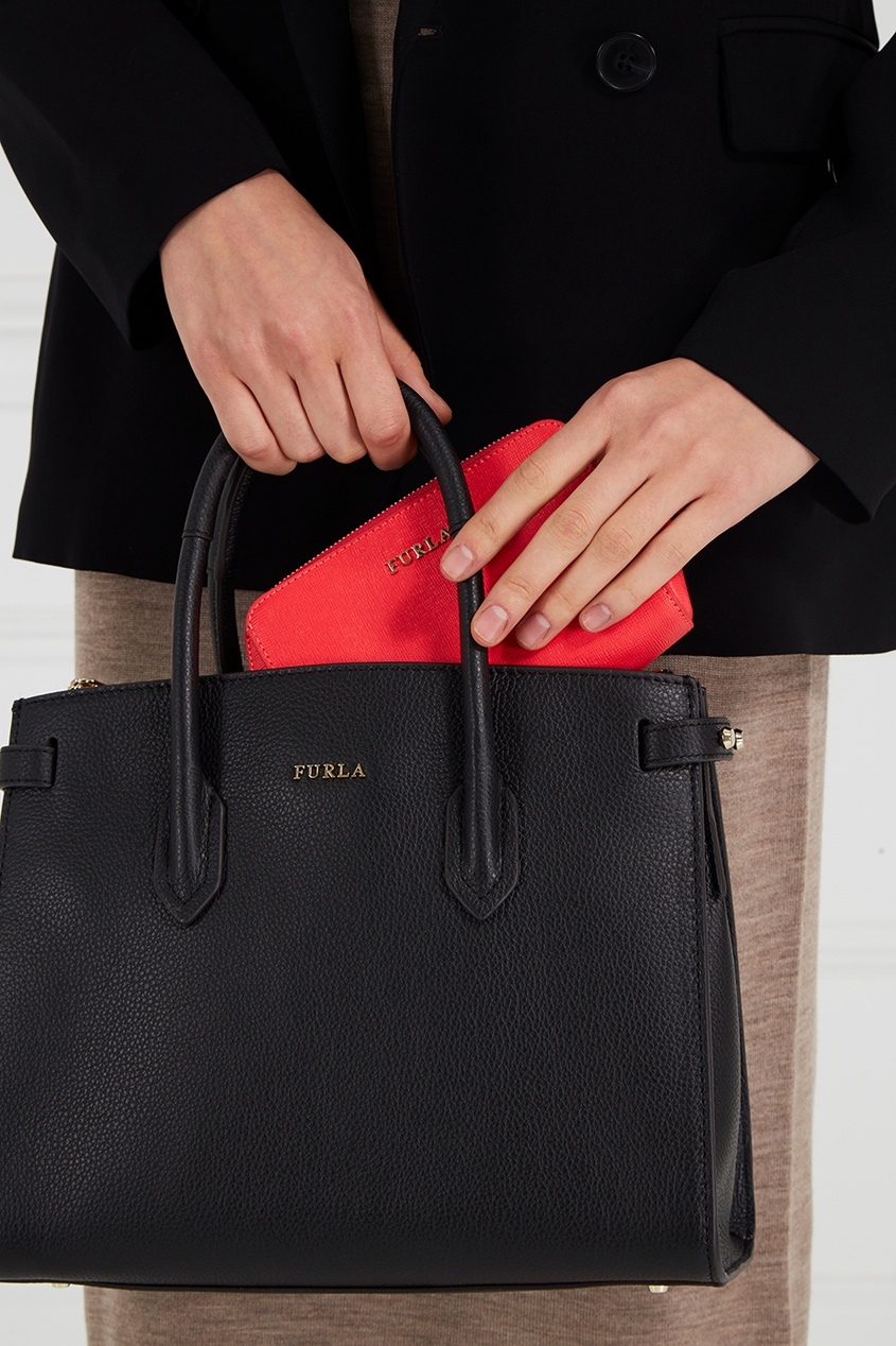 FURLA Красная косметичка Electra цены онлайн
