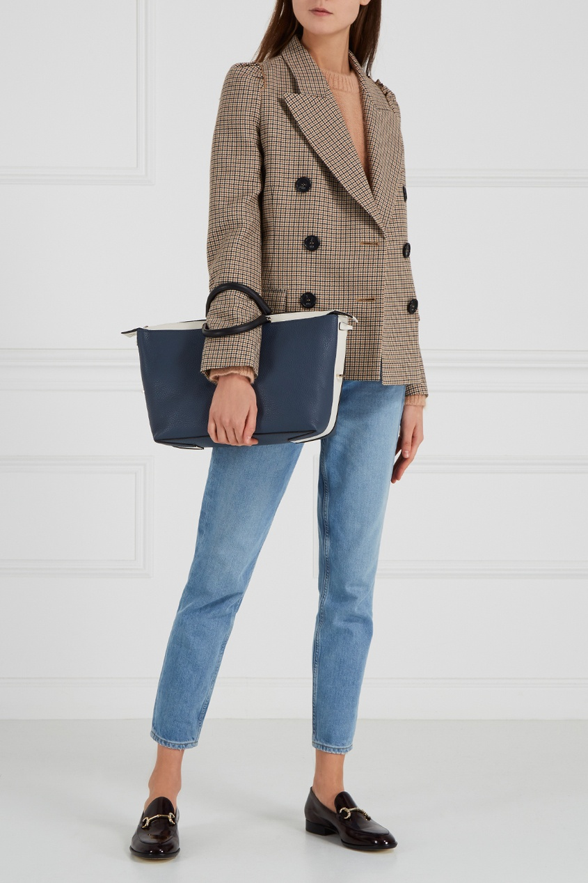 Синяя сумка Blogger