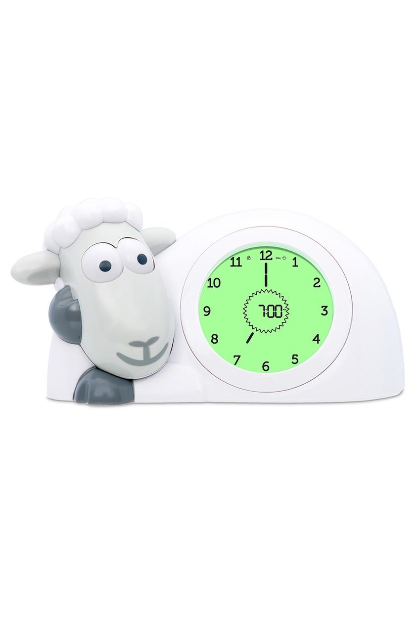 ZAZU Часы-будильник «Ягненок Сэм» серые