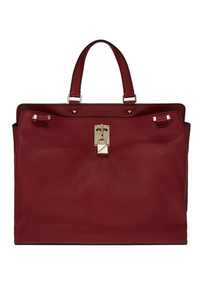 Valentino Бордовая сумка из кожи