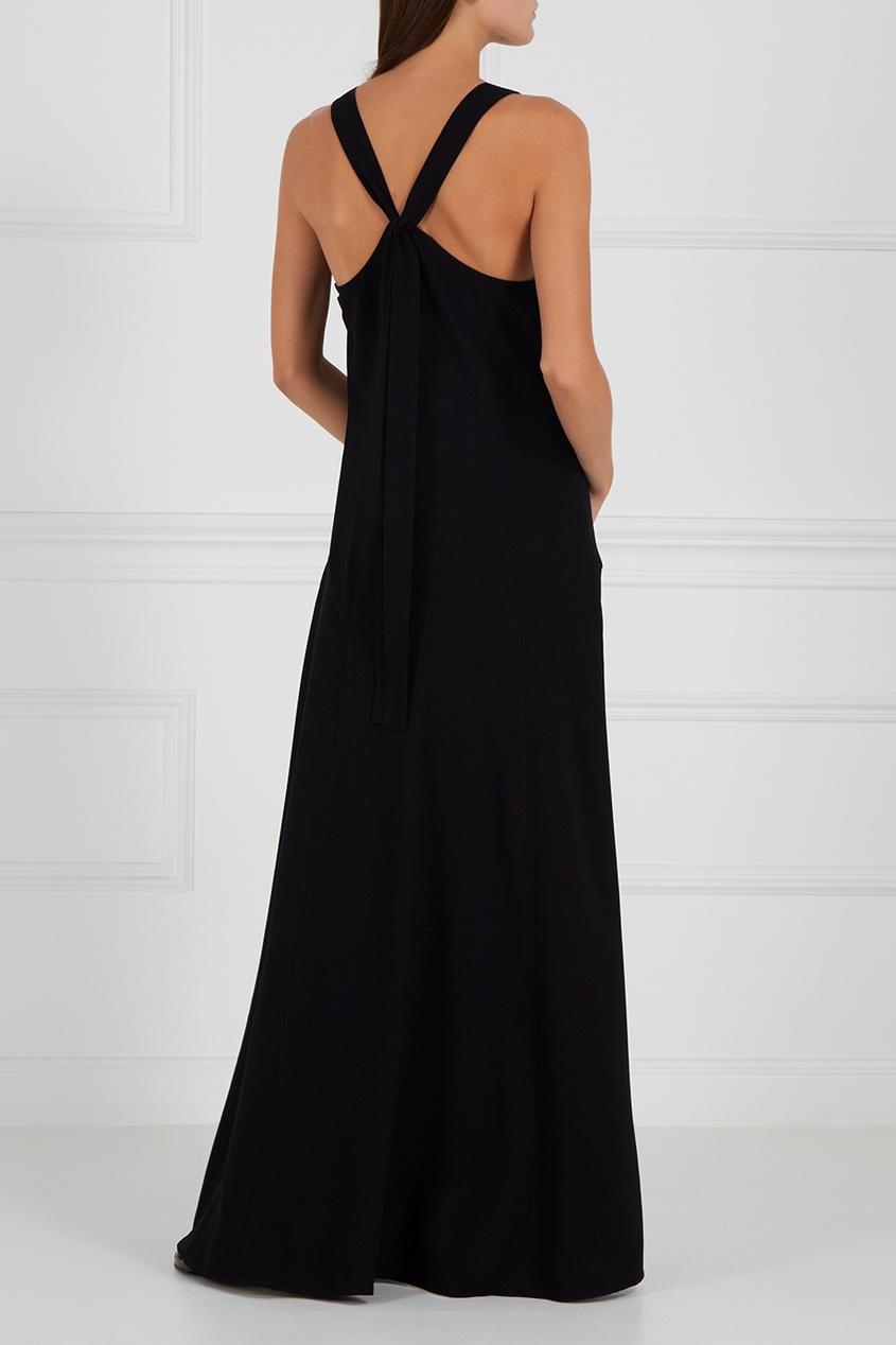 Theory Черное платье с подрезами carolina herrera 212 vip woman
