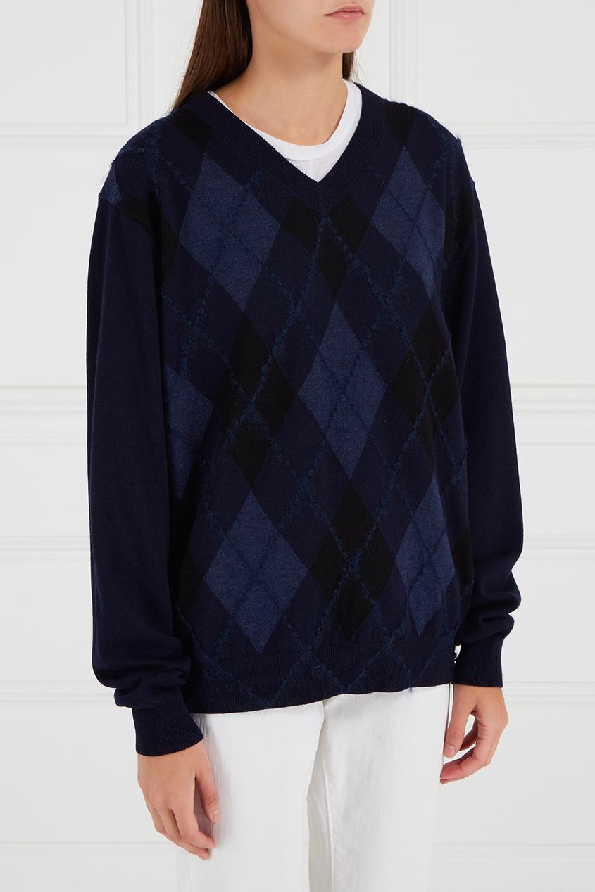 Acne Studios Пуловер из шерсти и мохера acne studios хлопковый пуловер kus