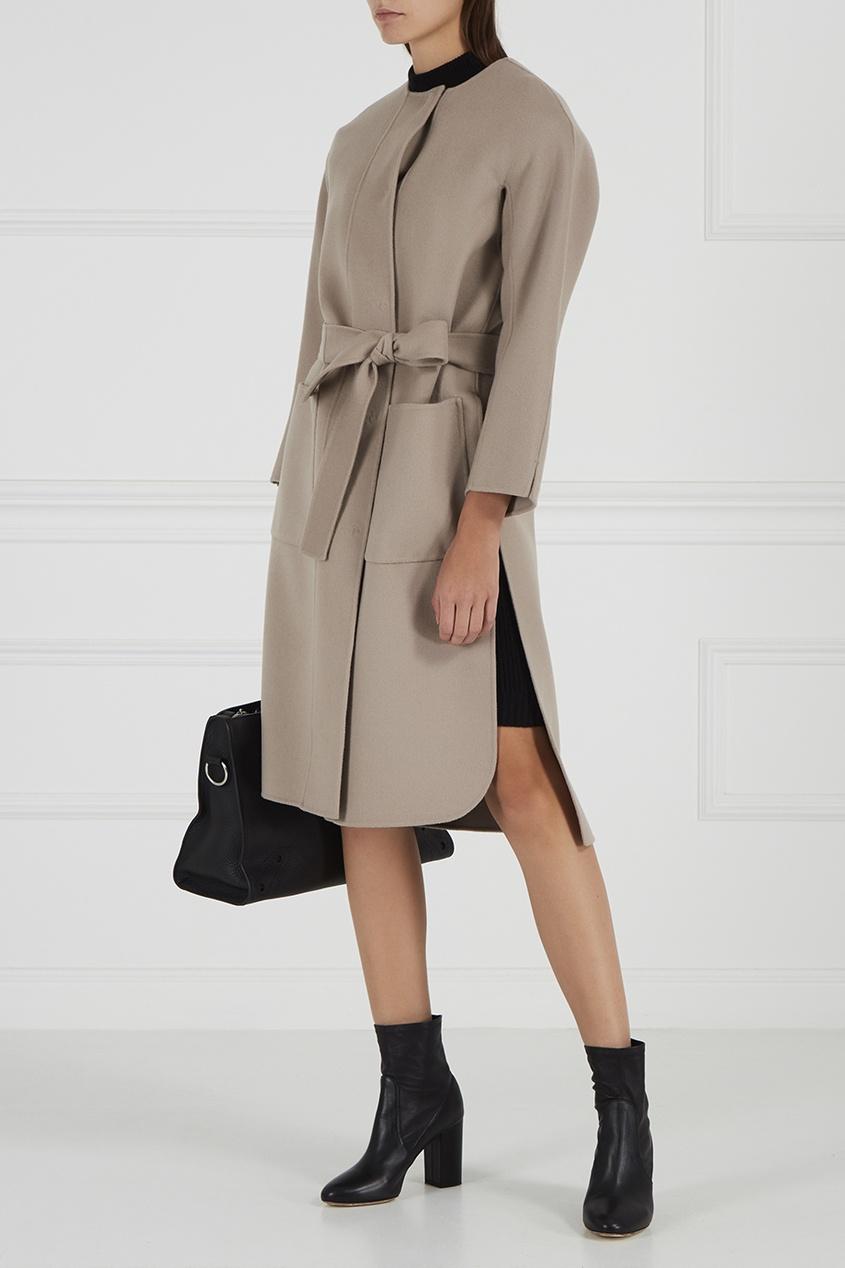 Max Mara Шерстяное пальто бежевого цвета Luca пальто s max mara пальто в стиле кардигана
