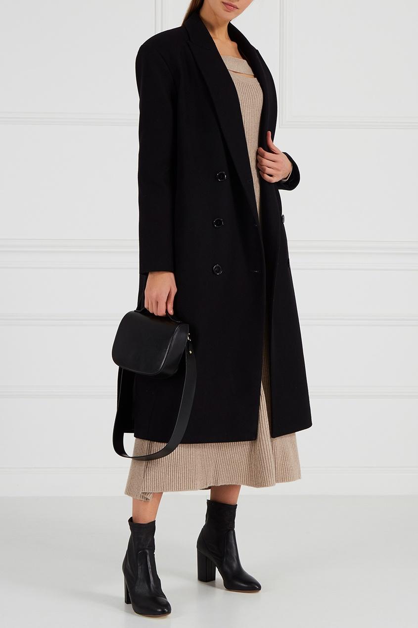 ЛИ-ЛУ Двубортное шерстяное пальто ли лу двубортное шерстяное пальто