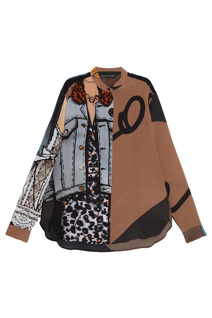 Alexander Terekhov Шелковая блузка с комбинированным принтом шина continental contipremiumcontact 5 225 55 r17 97w