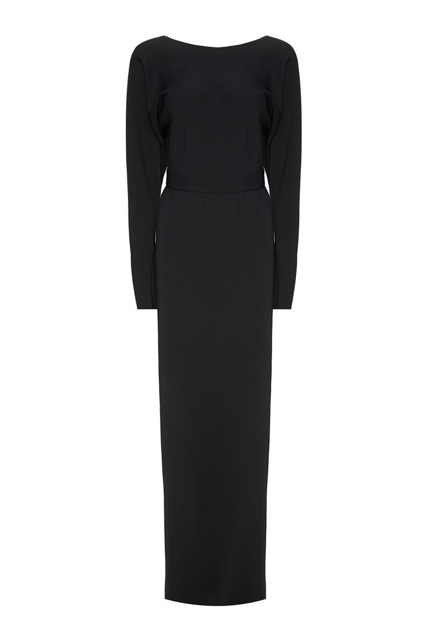 Alexander Terekhov Черное платье-макси laroom черное платье макси