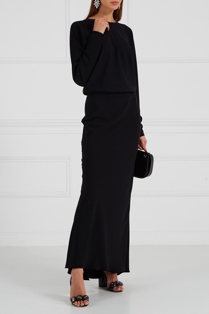Alexander Terekhov Черное платье с рукавами «летучая мышь»