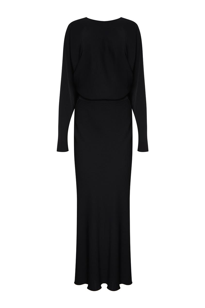 Alexander Terekhov Черное платье с рукавами «летучая мышь» полуприлегающее платье с рукавами летучая мышь s