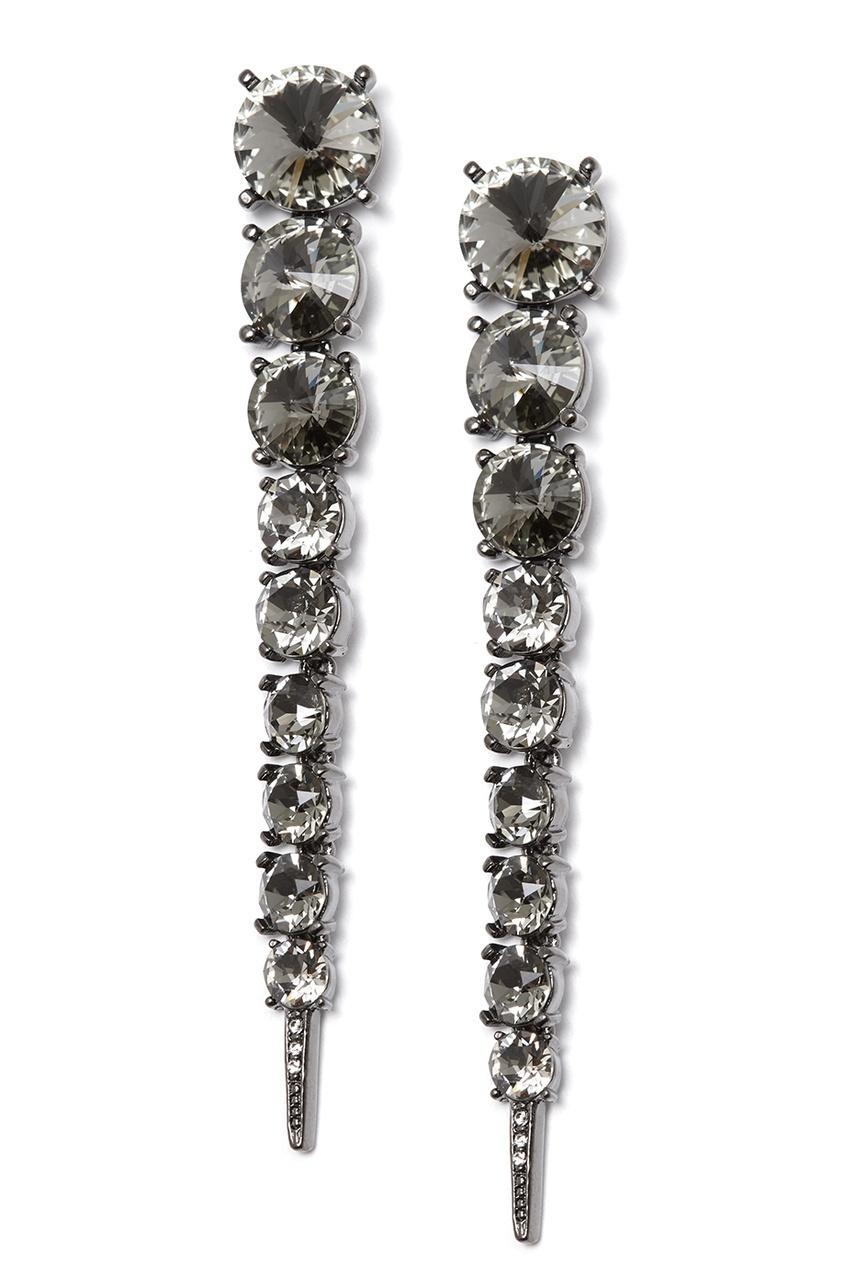 Oscar de la Renta Длинные серьги-клипсы с кристаллами люстра colosseo 82406 4c oscar