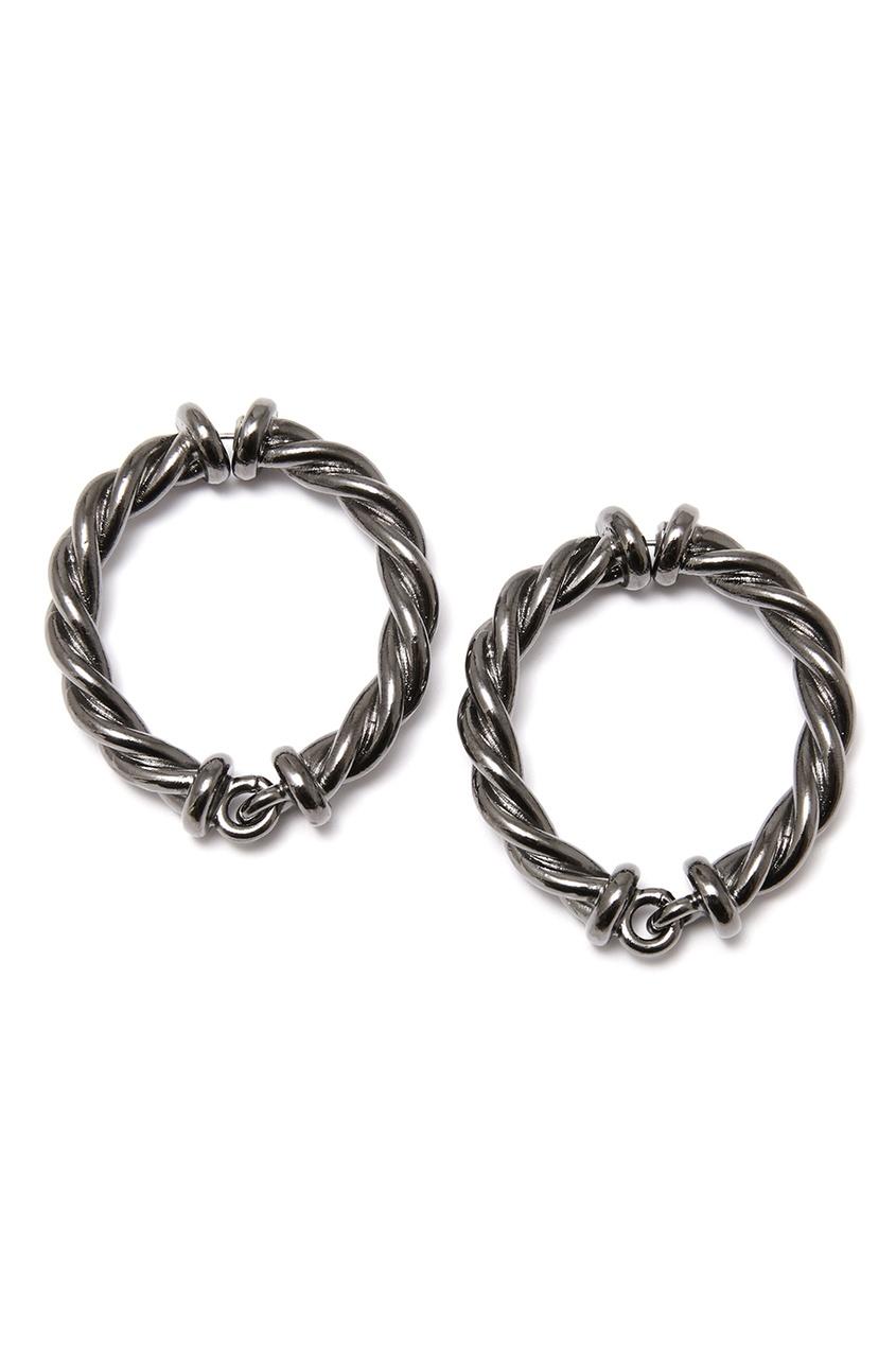 Oscar de la Renta Серьги-кольца из черненого металла серьги кольца конго золотые 56020417000