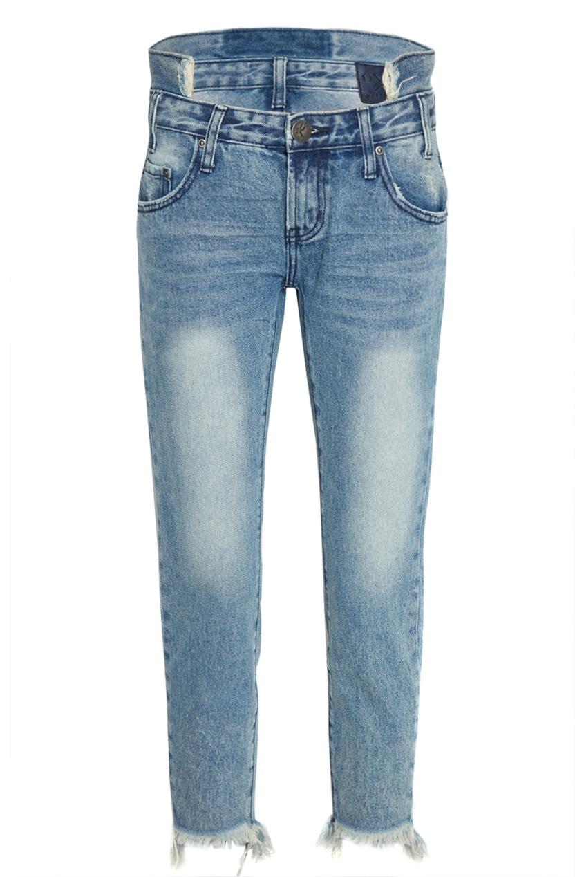 Вареные джинсы с бахромой