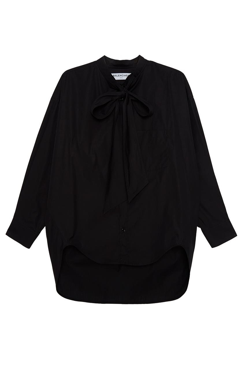 Хлопковая блузка с логотипом на спине