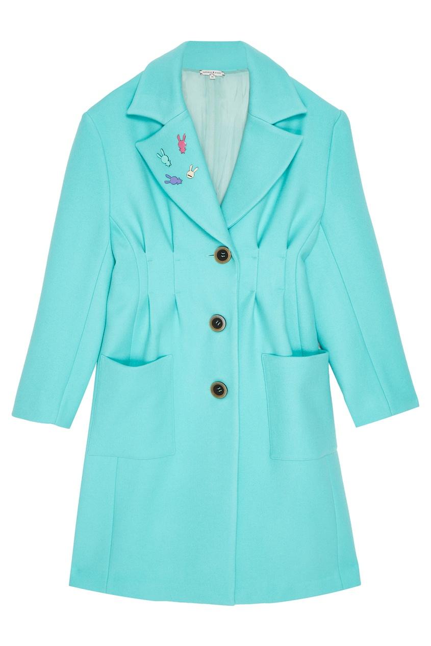 Natasha Zinko Шерстяное пальто со значками natasha ruleva блуза natasha ruleva ss14 nr 0602