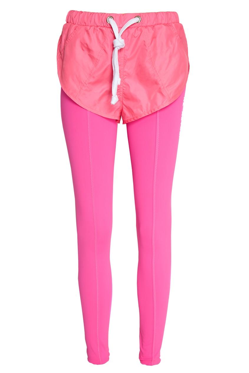Розовые брюки с шортами