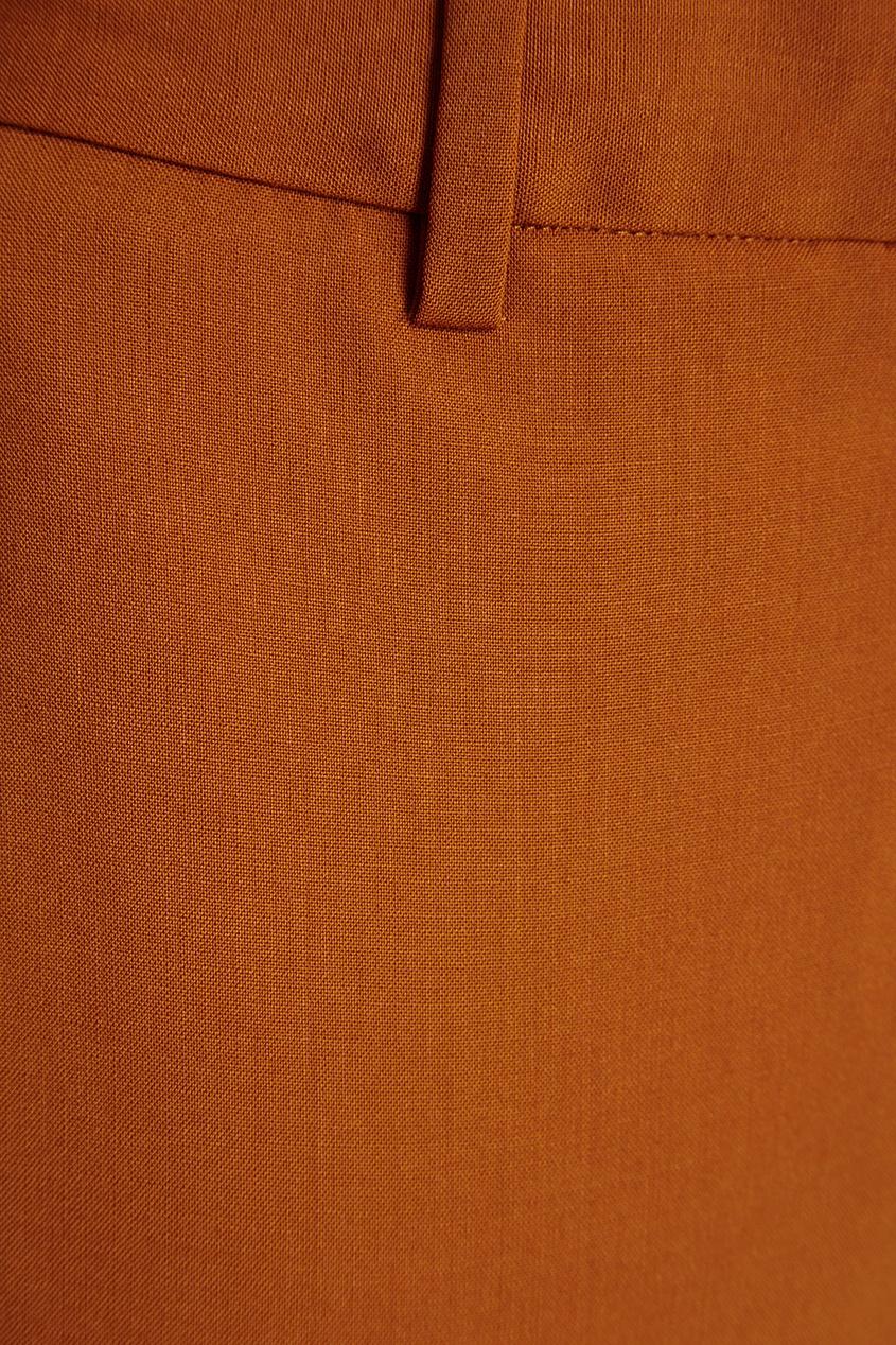 Шерстяные брюки горчичного цвета