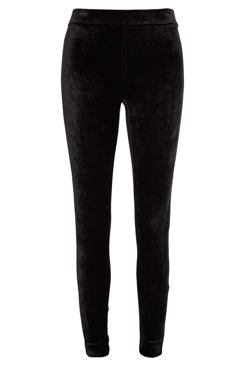 цена  Theory Бархатные черные брюки  онлайн в 2017 году