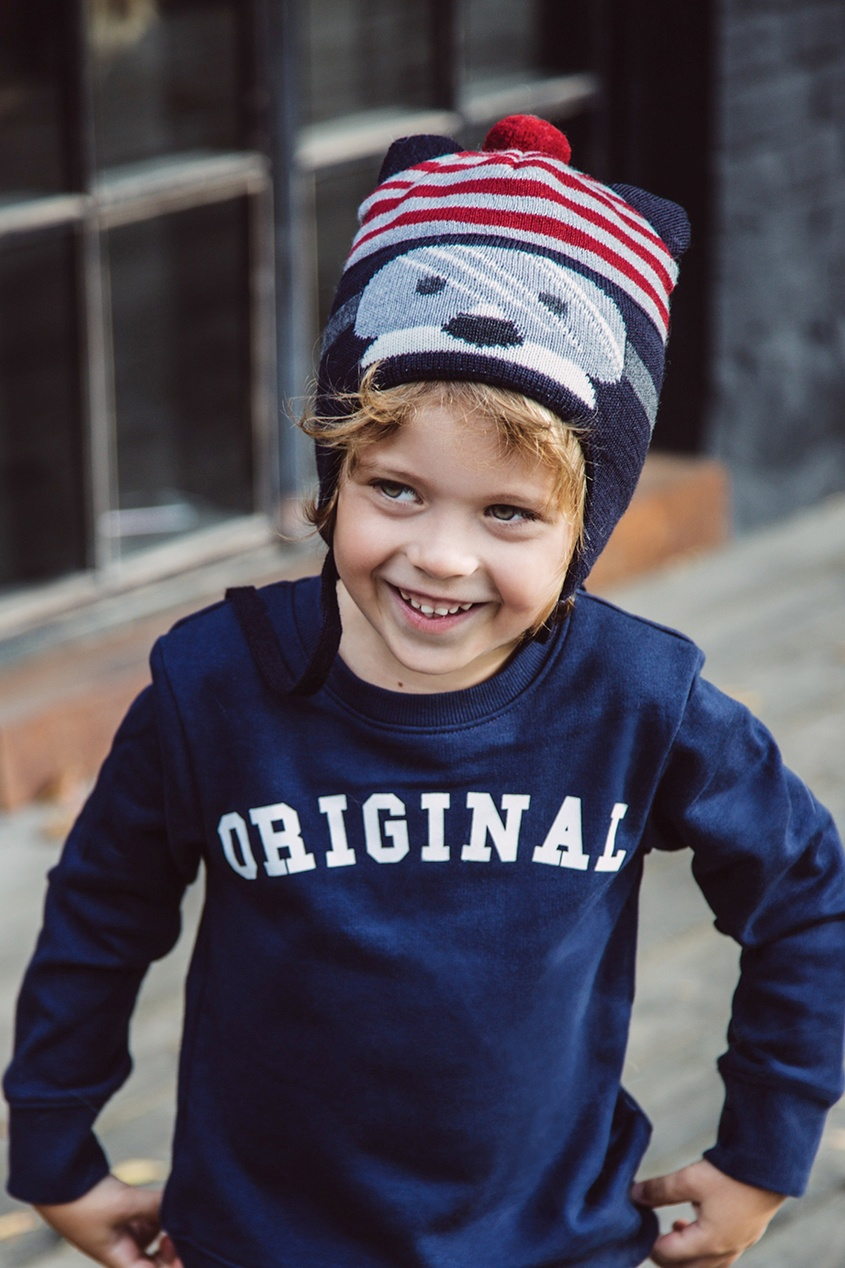 Junior Republic Синяя шапка в полоску junior republic junior republic рубашка в мелкую полоску голубая