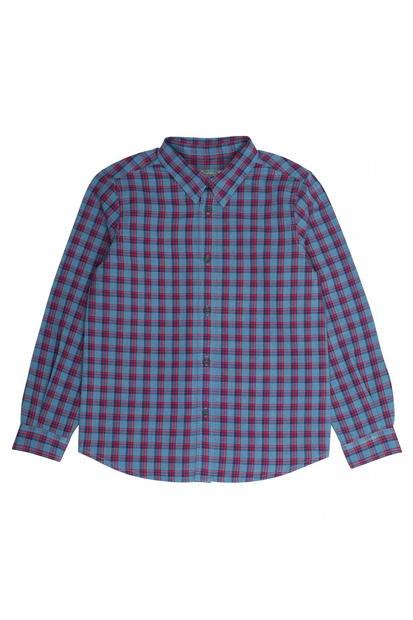 Bonpoint Хлопковая сорочка в клетку Agile