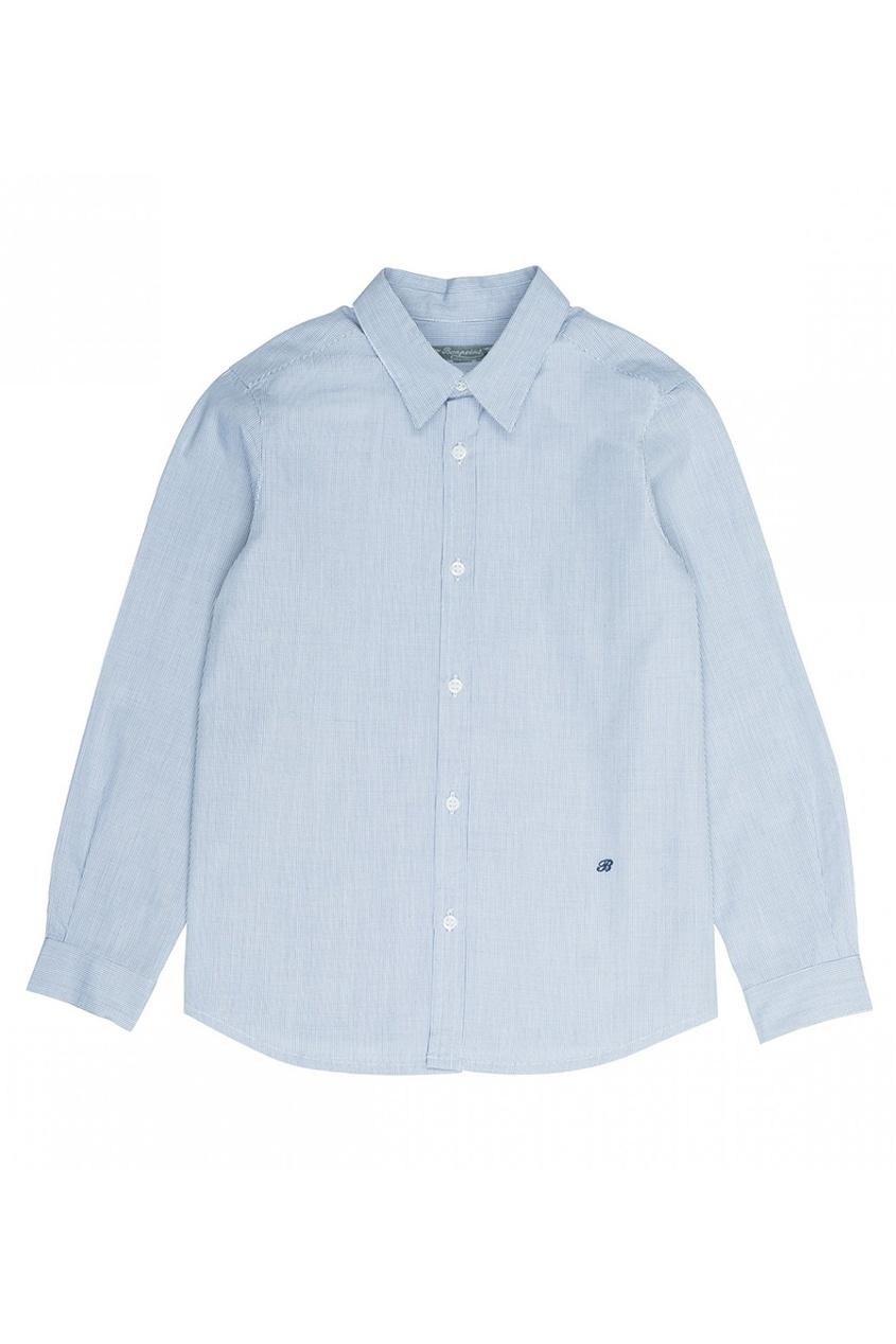 Bonpoint Хлопковая голубая сорочка Acteur