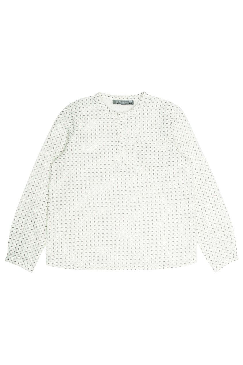 Bonpoint Хлопковая белая рубашка Artiste осенние новый пиджак обрезанное корейской версии новый осенний износ тонкая белая рубашка леди рукава белая рубашка