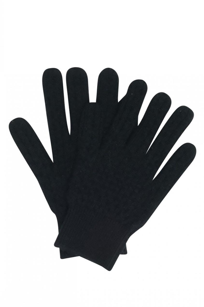 Bonpoint Черные перчатки из кашемира bonpoint кожаные черные сапоги botte