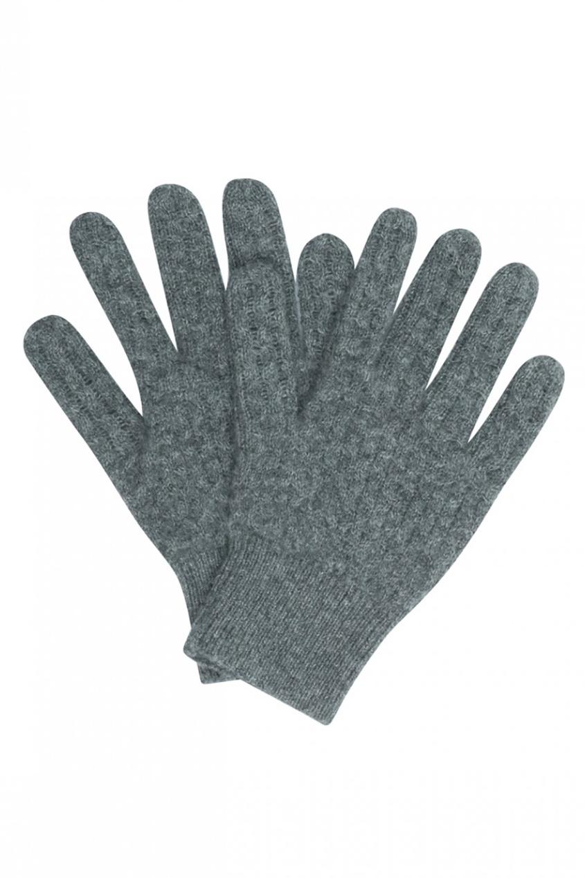 Кашемировые серые перчатки