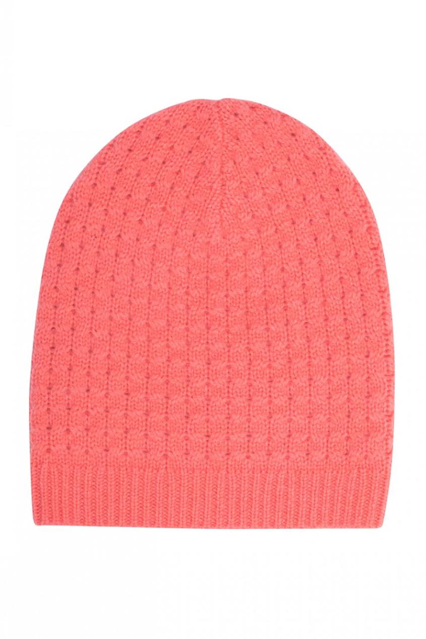 Кашемировая шапка розовая