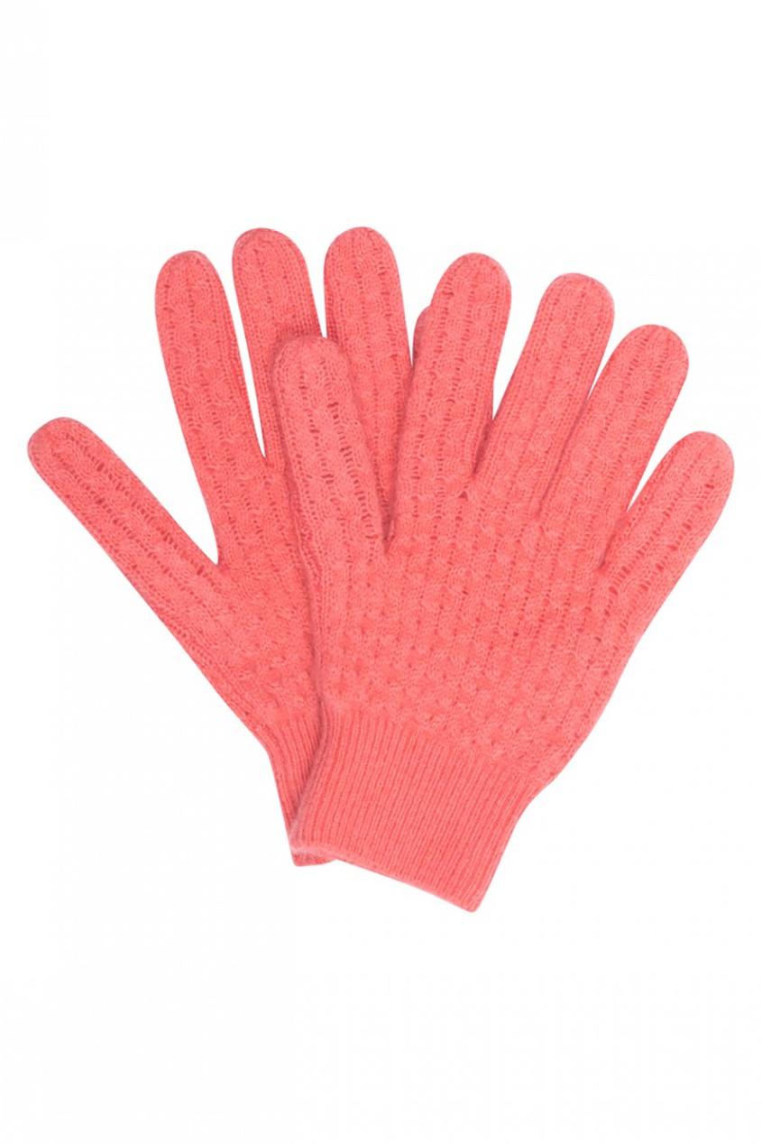 Кашемировые розовые перчатки