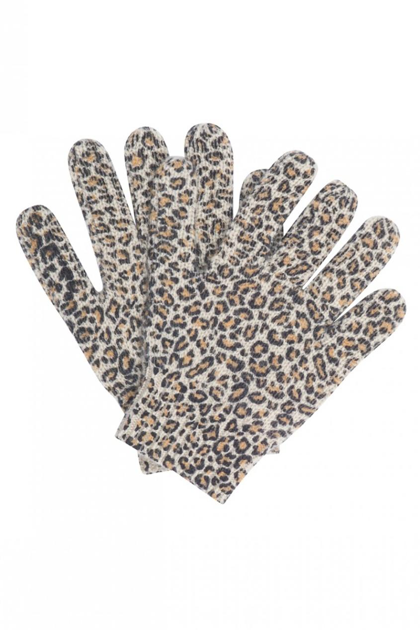 Bonpoint Кашемировые перчатки орехового цвета