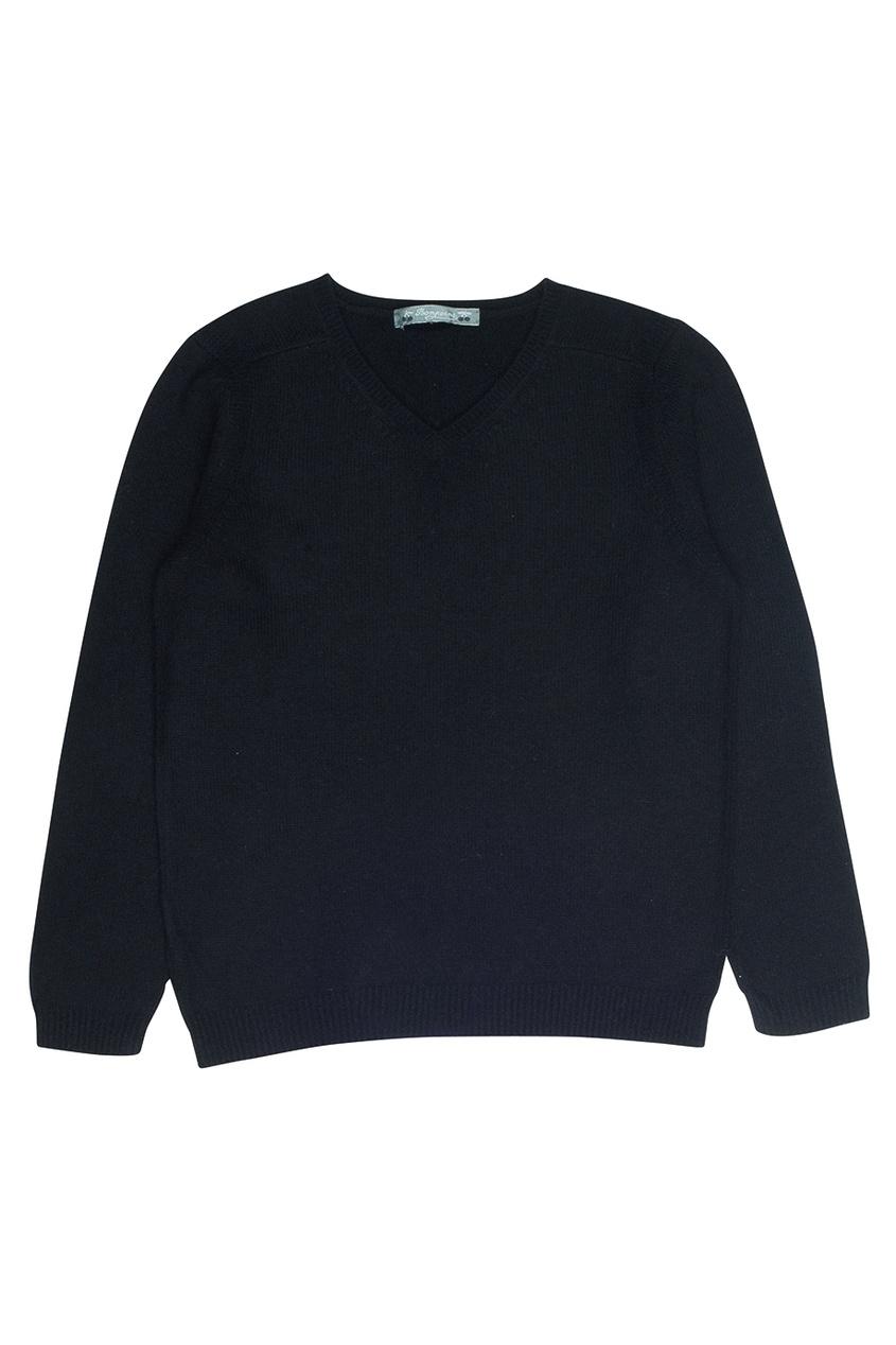 Кашемировый черный пуловер