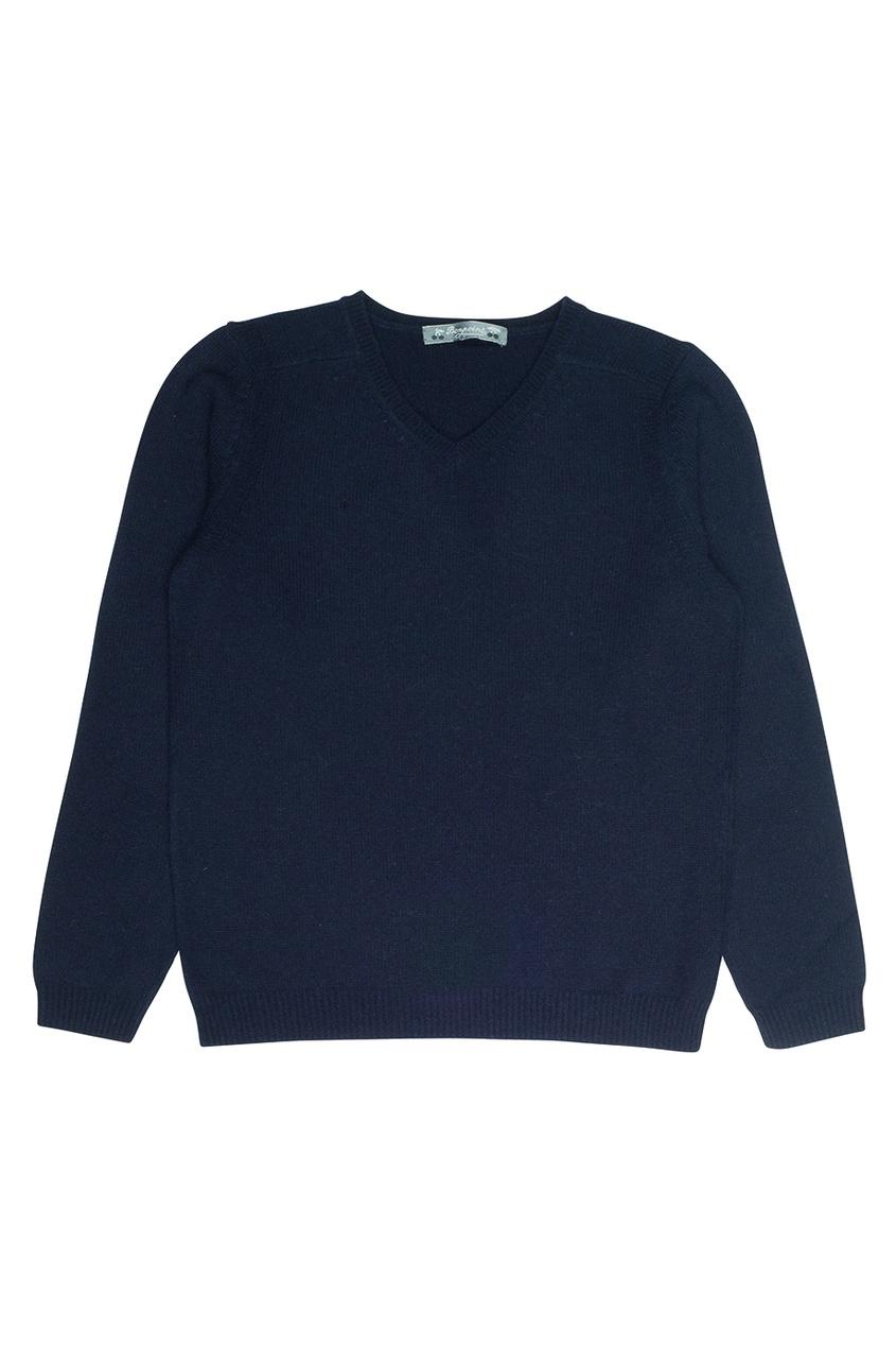 Пуловер темно-синий кашемировый