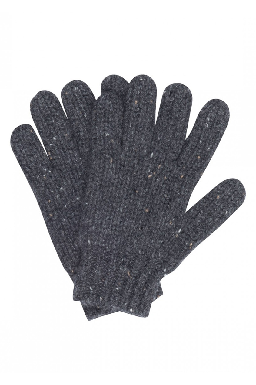 Кашемировые перчатки серые