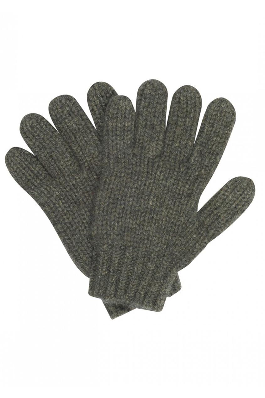 Кашемировые перчатки цвета хаки