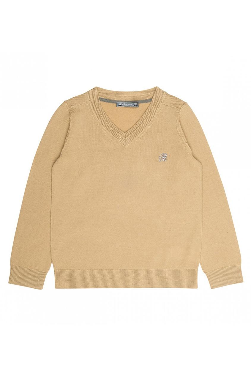 Пуловер желтый шерстяной