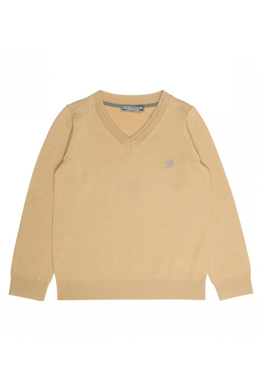 Bonpoint Пуловер желтый шерстяной balenciaga шерстяной пуловер