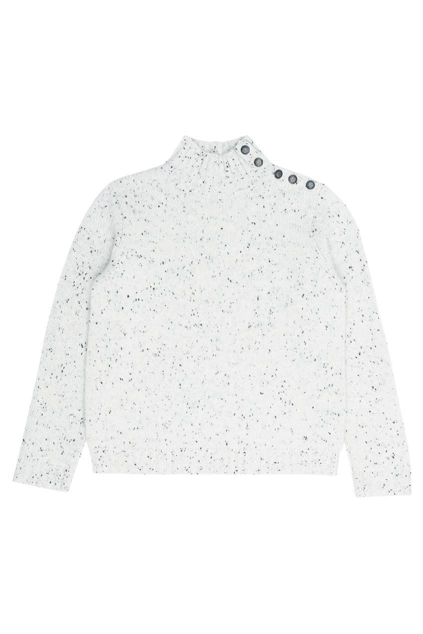 Кашемировый свитер светло-серый