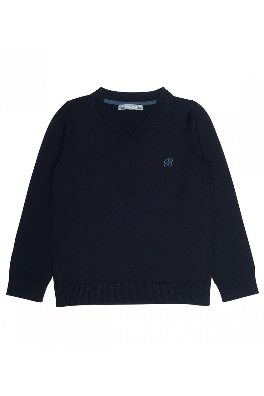 Пуловер шерстяной черный